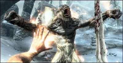 A Frost Troll from Skyrim courtesy of Game Informer