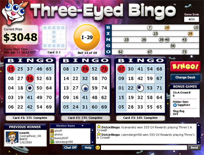 The All New Three-Eyed Bingo in 2009