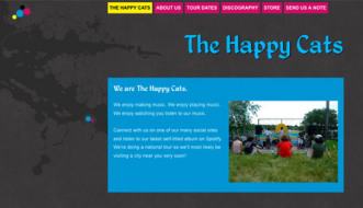 Screen shot of website created on Tripod.com